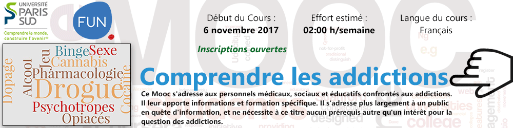 MOOC - Comprendre les addictions - Plus d'informations