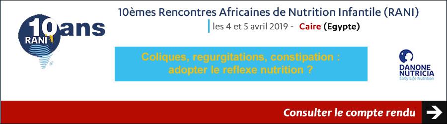 10èmes Rencontres Africaines de Nutrition Infantile les 4 et 5 avril 2019 - Caire - Egypte