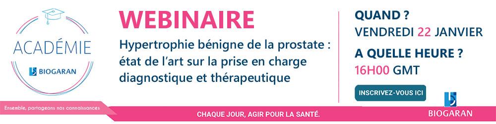 Biogaran - Webinaire : Etat de l'art de l'HBPM et prise en charge du cancer de la prostate - Plus d'informations