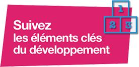 Suivez les éléments clés du développement