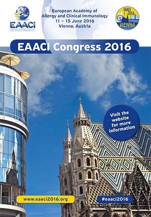 Le congrès de l'European Academy of Allergy and Clinical Immunology (EAACI 2016) aura lieu du 11 au 15 juin 2016 à Vienne (Autriche) - Plus d'informations