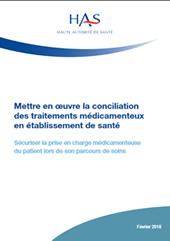 Mettre en œuvre la conciliation des traitements médicamenteux en cancérologie