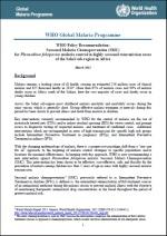 Recommandation de politique générale de l'OMS: Chimioprévention du paludisme saisonnier pour lutter contre le paludisme à Plasmodium falciparum en zone de forte transmission saisonnière dans la sous région du Sahel en Afrique - Mars 2012