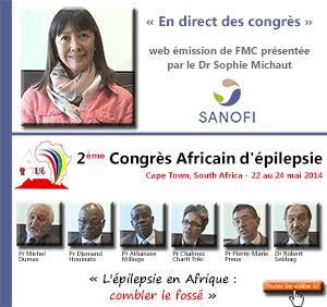 La 24ème émission de « En direct des congrès » était consacrée au 2ème Congrès Africain d'épilepsie (AEC 2014) qui s'est tenu à Cape Town (Afrique du sud) du 22 au 24 mai 2014. Les professeurs Chahnez Charfi Triki, Dismand Houinato, Athanase Millogo, Pierre-Marie Preux, Michel Dumas et le docteur Robert Sebbag font le point sur ce qu'il faut retenir de ce congrès