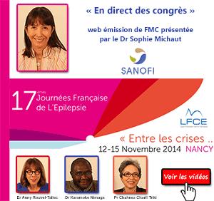 La 28ème émission de « En direct des congrès » était consacrée aux 17èmes journées françaises de l'épilepsie qui se sont déroulées à Nancy du 12 au 15 novembre 2014 sur le thème : « Entre les crises... ». Le Docteur Anny Rouvel-Tallec (France), le Professeur Chahnez Charfi Triki (Tunisie) et le docteur Karamoko Nimaga (Mali) font le point sur ce qu'il faut retenir de ce congrès - Plus d'informations