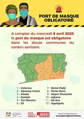 Affiche prévention Covid-19 Bénin
