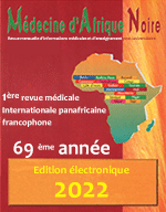 Médecine d'Afrique noire - 1st Pan African International medical journal in french language - 65ème année