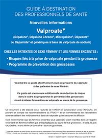 Nouvelles informations Valproate - Guide à destination des professionnels de santé